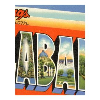 Greetings From Alabama Letterhead