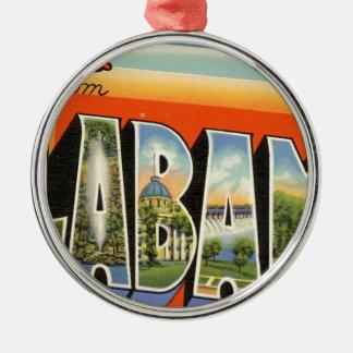 Greetings From Alabama Metal Ornament