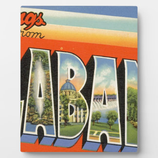 Greetings From Alabama Plaque