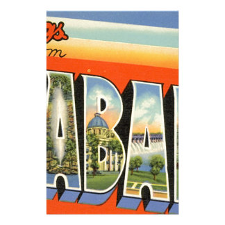 Greetings From Alabama Stationery