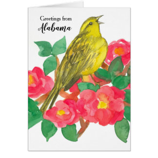 Greetings from Alabama Yellowhammer State Bird Card