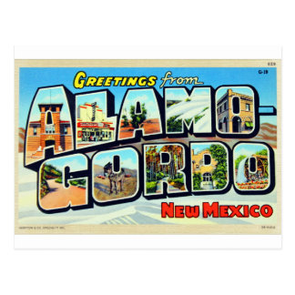 Greetings From Alamogordo, NM Letter Postcard
