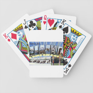Greetings From Alaska Bicycle Playing Cards