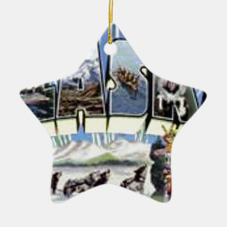 Greetings From Alaska Ceramic Ornament