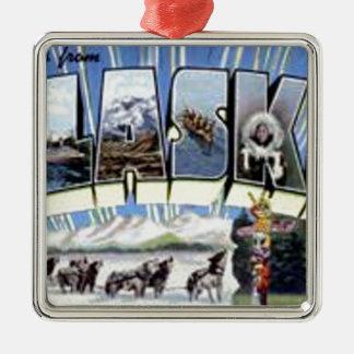 Greetings From Alaska Metal Ornament