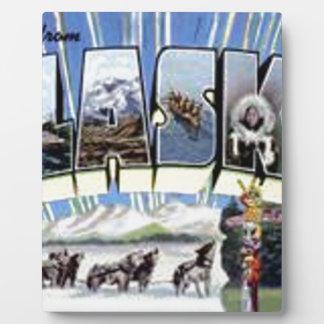 Greetings From Alaska Plaque