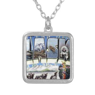 Greetings From Alaska Silver Plated Necklace
