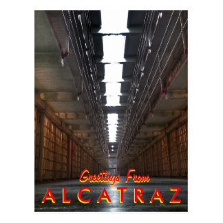 Greetings From Alcatraz Postcard