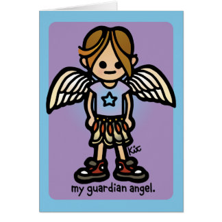 greetings from angels. card