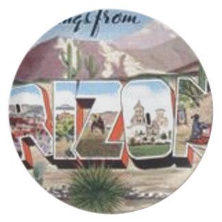 Greetings from Arizona Plate
