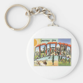 Greetings From Arizona USA Basic Round Button Keychain