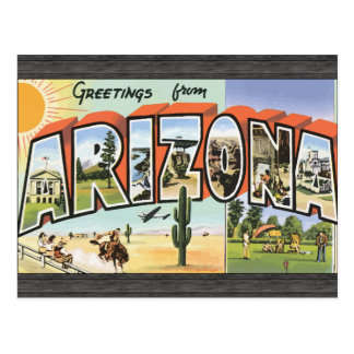 Greetings From Arizona, Vintage Postcard