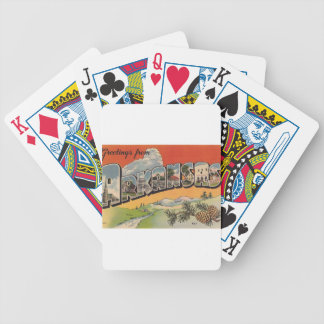 Greetings from Arkansas Bicycle Playing Cards