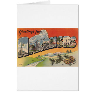 Greetings from Arkansas Card