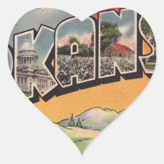 Greetings from Arkansas Heart Sticker