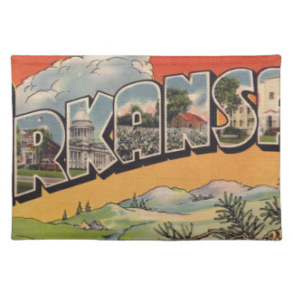 Greetings from Arkansas Placemat