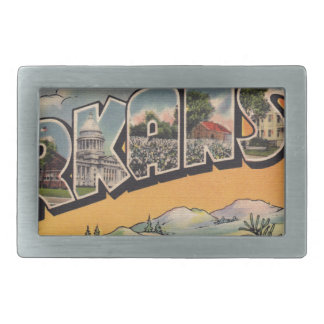 Greetings from Arkansas Rectangular Belt Buckle
