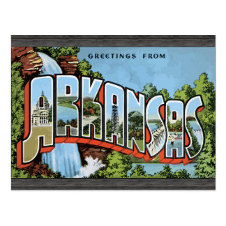 Greetings From Arkansas, Vintage Postcard