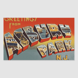 Greetings from Asbury Park NJ Sticker