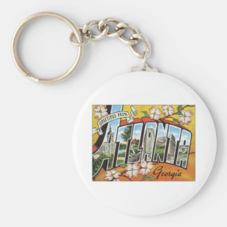 Greetings From Atlanta Basic Round Button Keychain