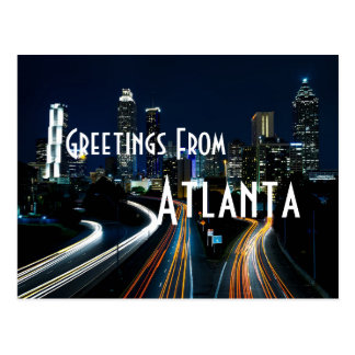 greetings from Atlanta georgia postcard