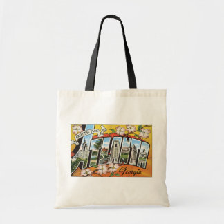 Greetings From Atlanta Georgia, Vintage Tote Bag