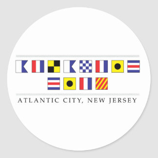 Greetings from Atlantic City Classic Round Sticker