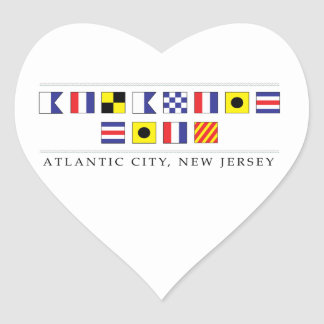 Greetings from Atlantic City Heart Sticker
