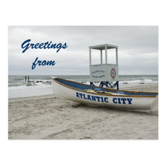 Greetings from Atlantic City New Jersey Postcard