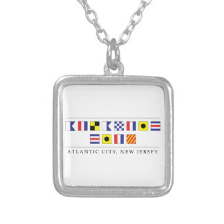 Greetings from Atlantic City Silver Plated Necklace