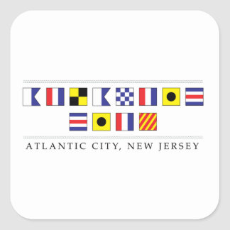 Greetings from Atlantic City Square Sticker