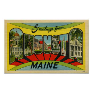 Greetings from Augusta, Maine Giant Postcard Poster