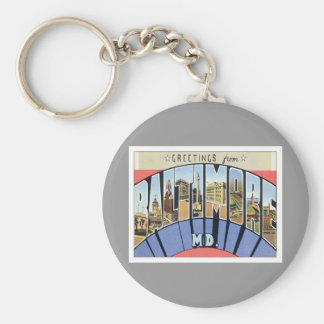 Greetings From Baltimore Maryland Basic Round Button Keychain