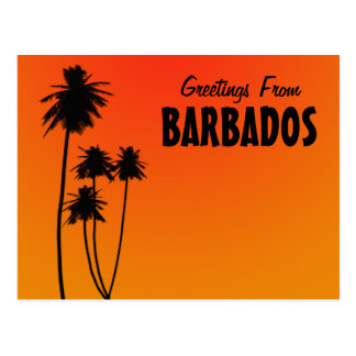 Greetings From Barbados postcard