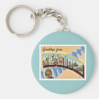 Greetings From Beantown Boston Basic Round Button Keychain