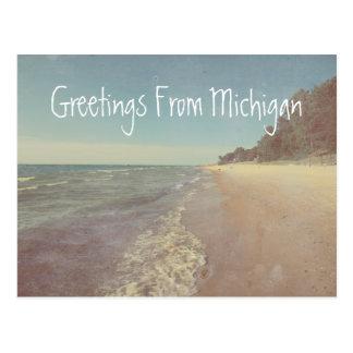 Greetings from Beautiful Lake Michigan Postcard