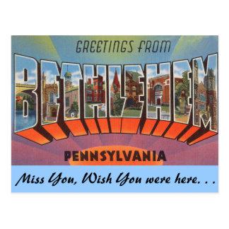 Greetings from Bethlehem Postcard