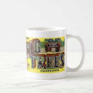 Greetings from Big Trees Vintage Postcard Mug