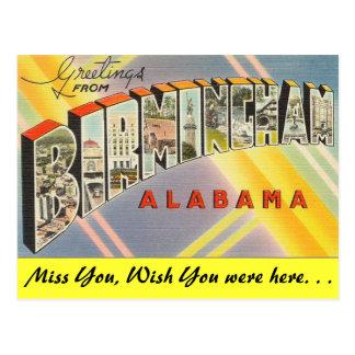 Greetings from Birmingham Postcard