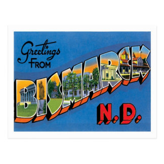 Greetings From Bismarck North Dakota US City Postcard