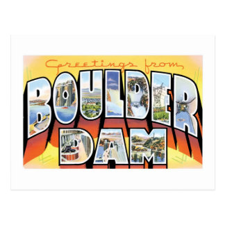 Greetings from Boulder Dam! Postcard