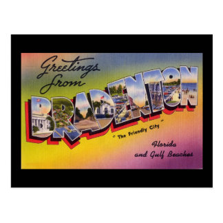 Greetings from Bradenton Florida Postcard