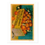 Greetings from California, Box of OrangesState Post Card