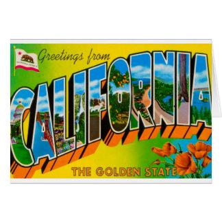 Greetings From California Card