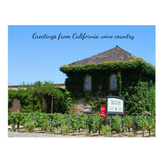 Greetings from California Wine Country Postcard