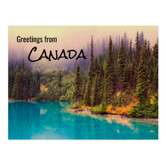 Greetings from Canada Rustic Landscape Postcard