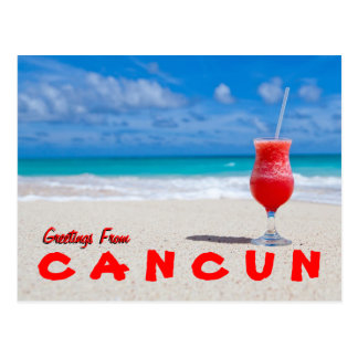 Greetings From Cancun Postcard