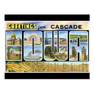 Greetings From Cascade Postcard