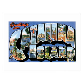 Greetings from Catalina Island, California Retro Postcard