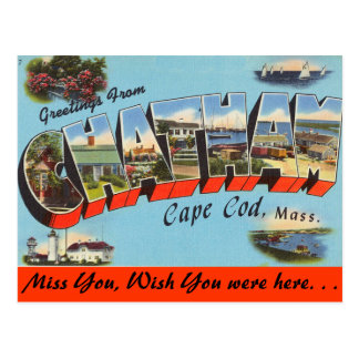 Greetings from Chatham, Cape Cod Postcard